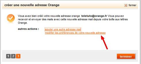 Ajouter adresse mail étape 2
