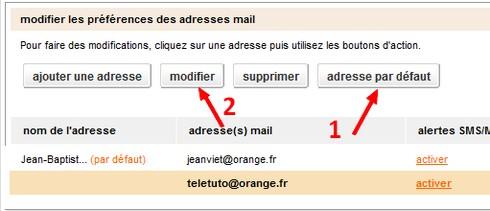Ajouter adresse mail étape 3