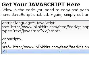 javascript blinkbits