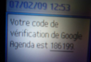 Code vérification sms