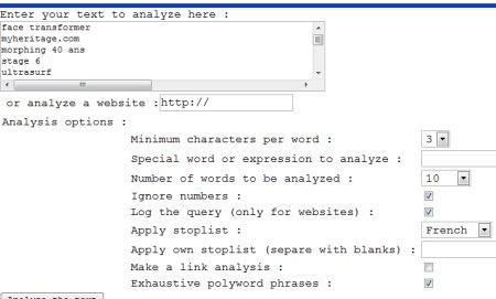 copier-coller texte textalyser