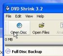 dvd shrink open disc