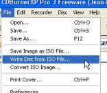write disc cdburner