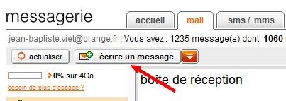 Envoyer email orange
