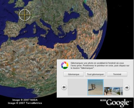 géolocaliser sur google earth