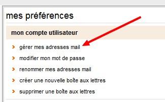 Gérer mes adresses mail