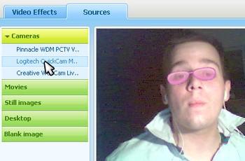 manycam choix pilote webcam