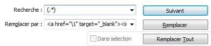 ajout de code html partout