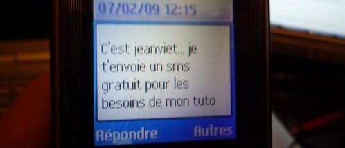 sms gratuit reçu