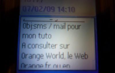 sms mail orange
