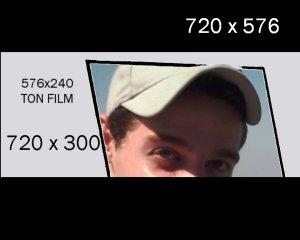 taille ecran 720x300 sur 720x576