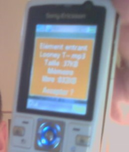 envoi sonnerie sur portable