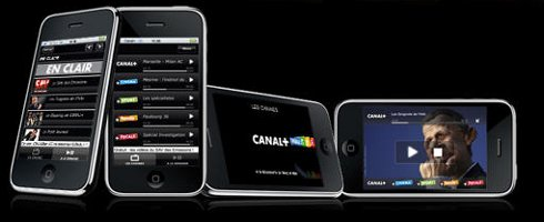 Application Canal + iPhone