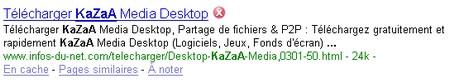 kazaa sur infos-du-net
