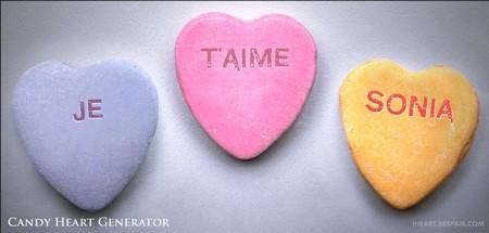 bonbon coeur st valentin