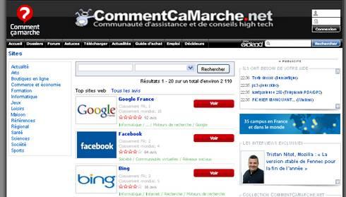 Classement Sites Français