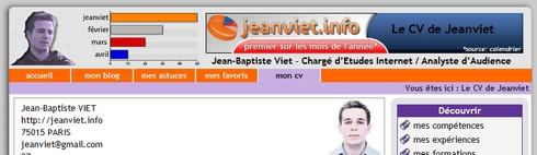 Le CV de Jeanviet