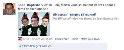 Martin, JB, Ben sur facebook