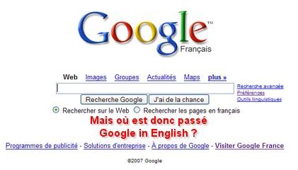 Google en français