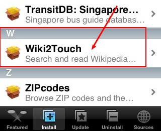wiki2touch dans categorie Misc