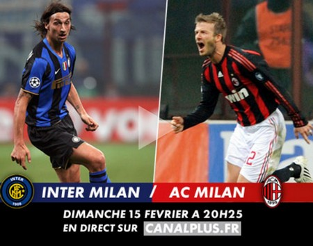 Inter de Milan - Milan Ac sur CanalPlus.fr