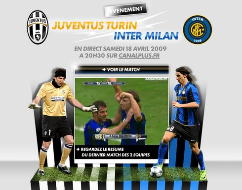 Juventus - Inter  en direct sur Internet