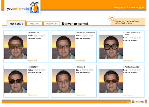 Créer son album photo de lunettes