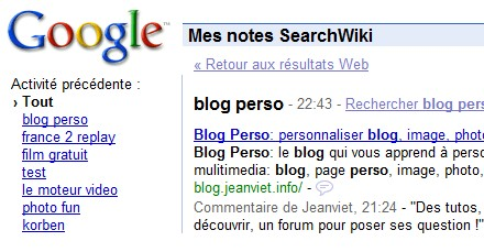 mes bookmarks google
