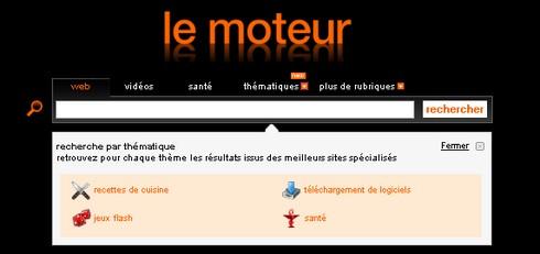 moteurs thematiques sur lemoteur.fr