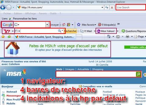 MSN Yahoo Google