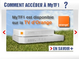 MyTF1 sur la TV d'Orange