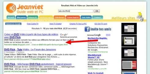partenariat Freewares et Tutos search