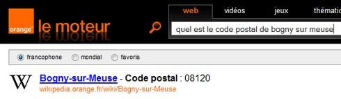 code postal + ville