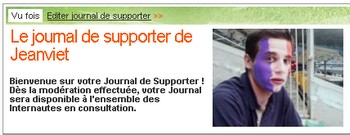 journal de supporter