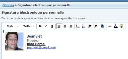 signature hotmail
