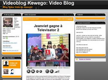 videoblog kewego, blog video voila