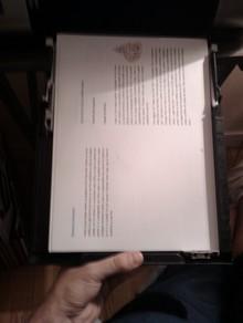 Rectos imprimés à remettre